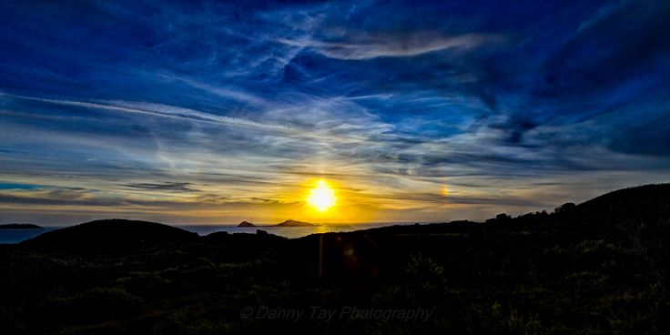 Rainbow Sunset @ Glennie Lookout in Wilsons Promontory, Victoria, Australia.