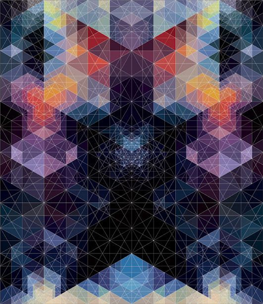 Kaleidoscopic and Hypnotic Geometric Compositions by Andy Gilmore #colorful #graphic #design