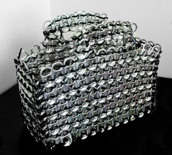 Silver Pop-Tab Purse. $75.00, via Etsy.