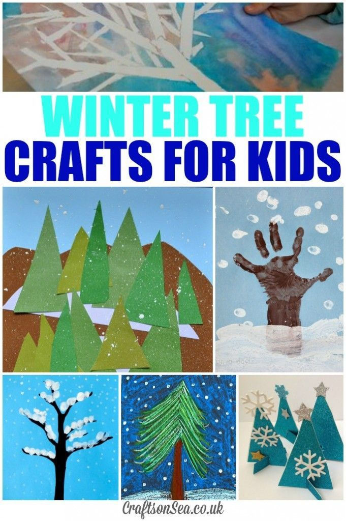 Winter Tree Crafts for Kids - simple crafts that kids can make