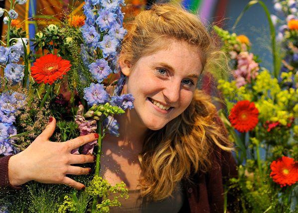 Auszubildende der Floristik in den Shopping Arkaden