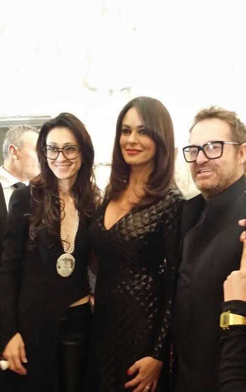 """With Maria Grazia Cucinotta - Testimonial of """"The Look of The Year 2014"""""""