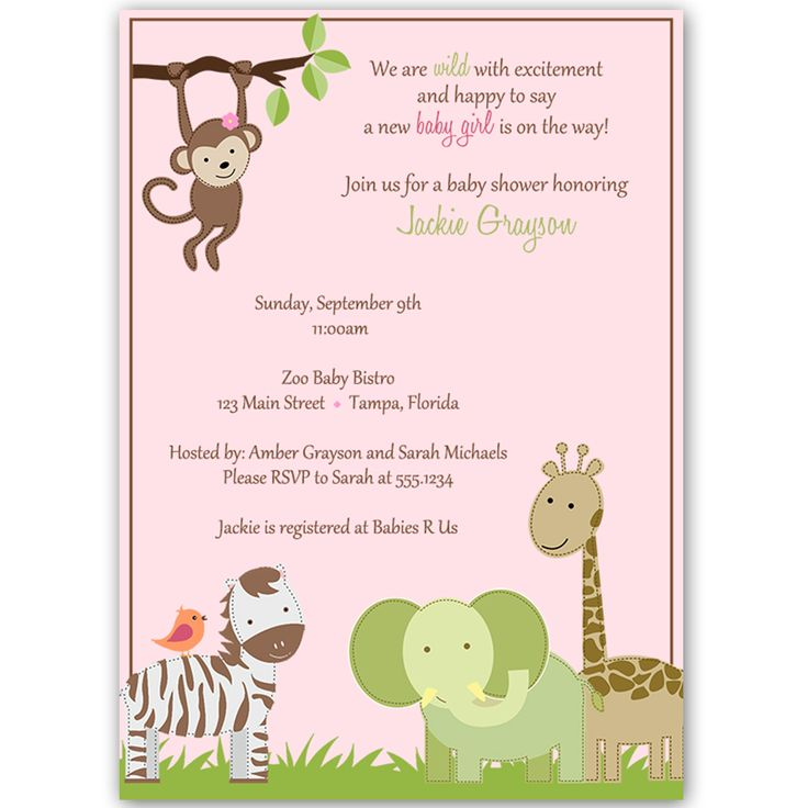 best baby shower  jungle images on   baby shower, Baby shower invitation