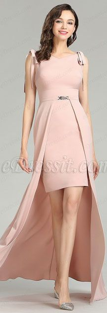 Elegant Pink Fashion Detachable Dress for Women (00181901 ...