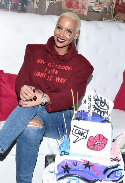 Amber Rose attends the Flirt Cosmetics x Amber Rose Event.