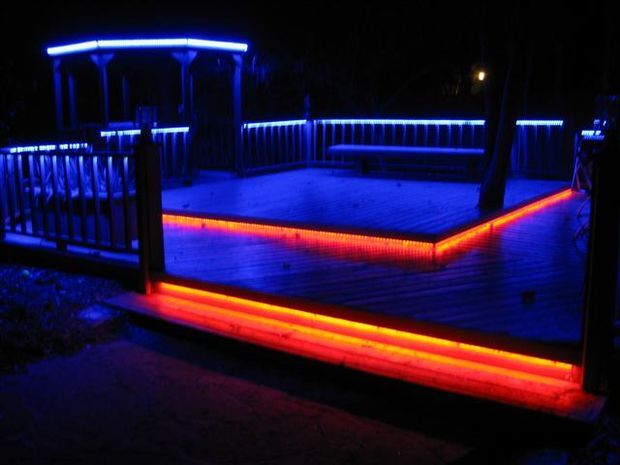 Picture of LED Deck Lighting- in color!