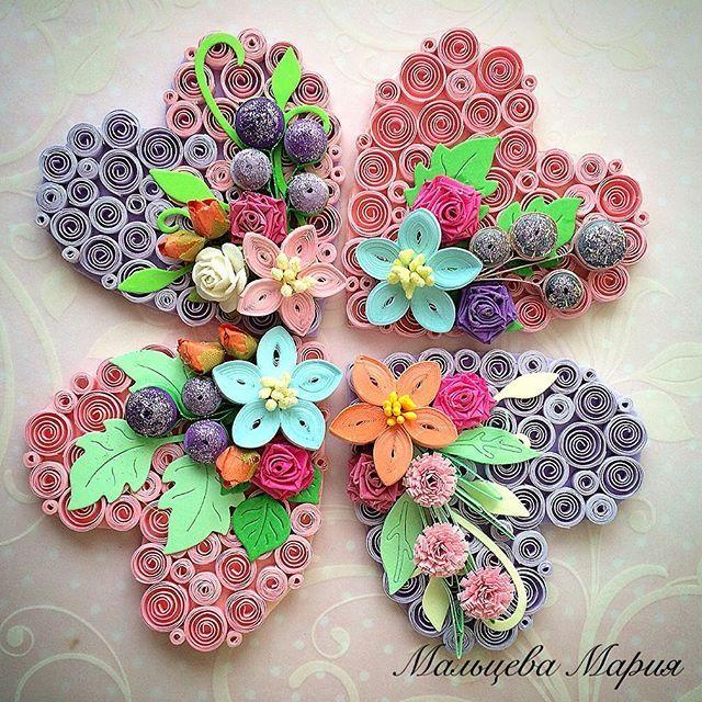Цветочные #валентинка полностью #ручная работа #handmade #любовь #heart #сердце…