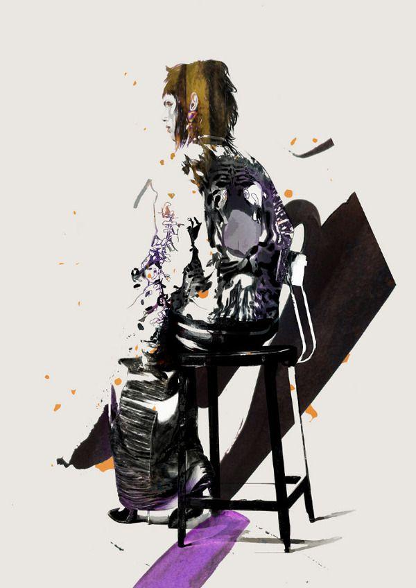 'OVEREXPOSED' Illustrations 2012 by Spiros Halaris, via Behance