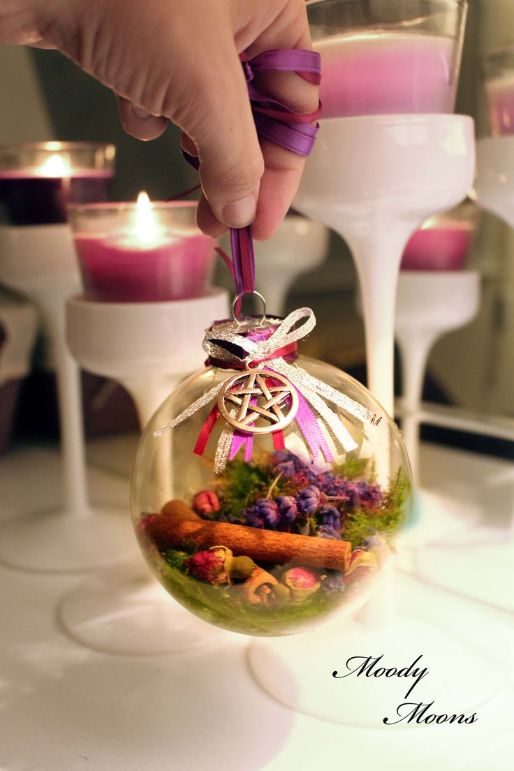 Witch balls are an Old World pagan tradition. Hang them in windows, over beds to ward off nightmares, in the garden to bless new growth, in kitchen to welcome good spirits or over doorways to prot...