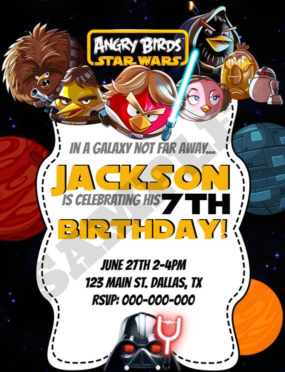 Angry Birds Star Wars Birthday Invitation by KaitlinsKardsNMore, $8.00