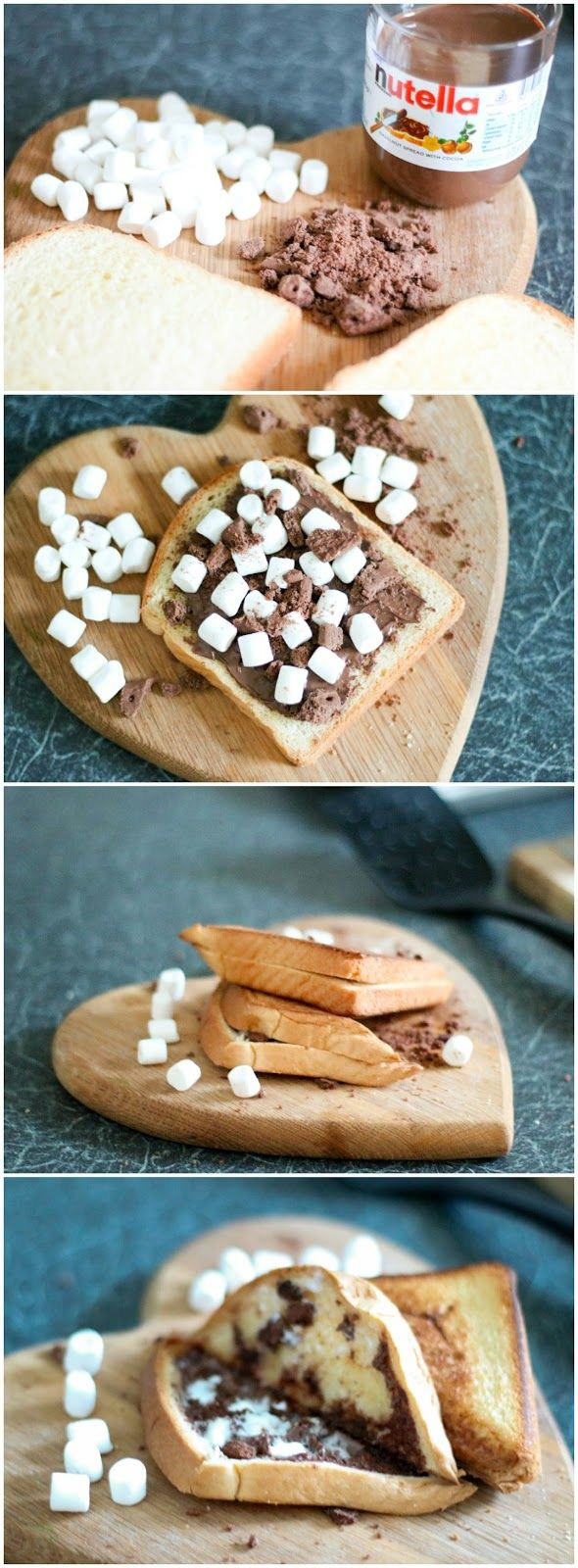 Toasted S'more: Break the Bourbon biscuit into small pieces. Spread the Nutella on the brioche and spread the biscuit and marshmallow on the Nutella brioche.   For more, check out this post on:  5 Simple Vegetarian Recipes Using Cuisinart Sandwich Maker + GIVEAWAY