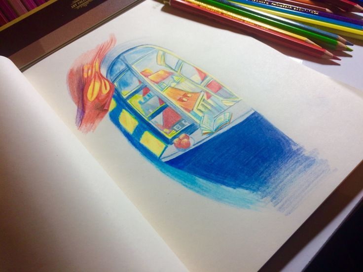 Color pencils draw #kohinoor