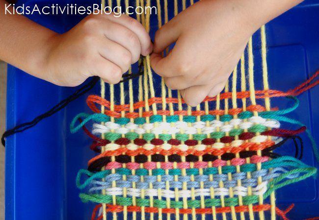 Africa Craft - Ethiopia weaving craft for kids (geography, Africa, homeschool, preschool)