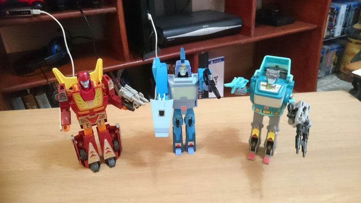 G1 Hot Rod, Blurr and Kup  Original  Transformers -The Movie Heroes