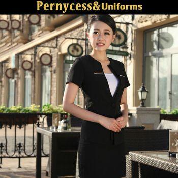 Encargo del hotel recepcionista uniforme por delante de la recepción - Identificación del producto : 60019352139 - m.spanish.alibaba.com