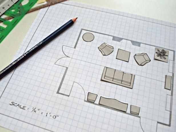 Searching for a new living room look? Before you redesign, consider switching up the room's layout. Take a cue from professional designers and reconfigure the furniture by creating a paper floor plan using a ruler, graph paper and a pencil.