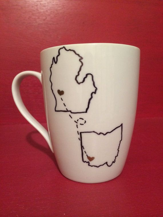 Custom State Love Mug, Coffee Mug