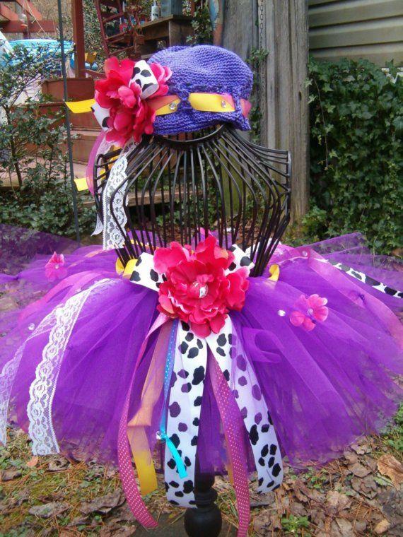 Custom Fancy Nancy Birthday Girl Tutu Beanie Outfit...Sooo OOOH LA LA.