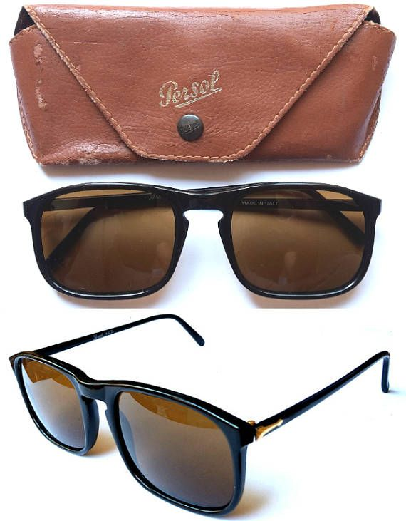 Persol Ratti 09241 Black Gold Trim VINTAGE 1980s Sunglasses