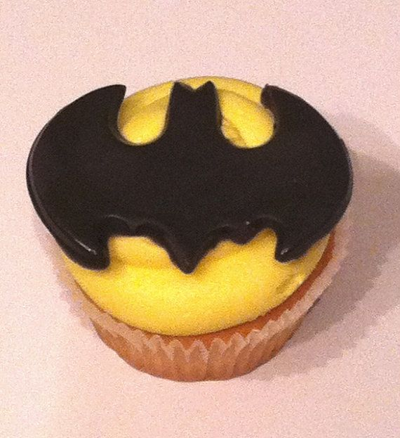 Fondant Batman Cupcake Toppers by CupsAndCakesOnline on Etsy, $16.00