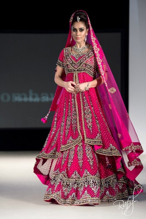 hot pink indian lacha