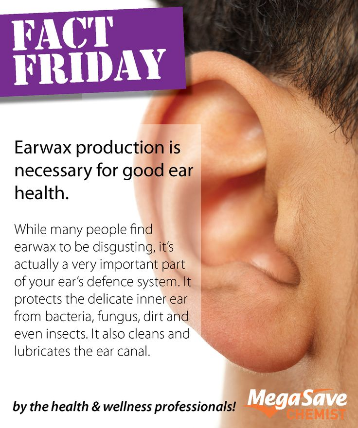 It might be a little gross but ear wax is actually very important to your ears health. #MSCFactFriday