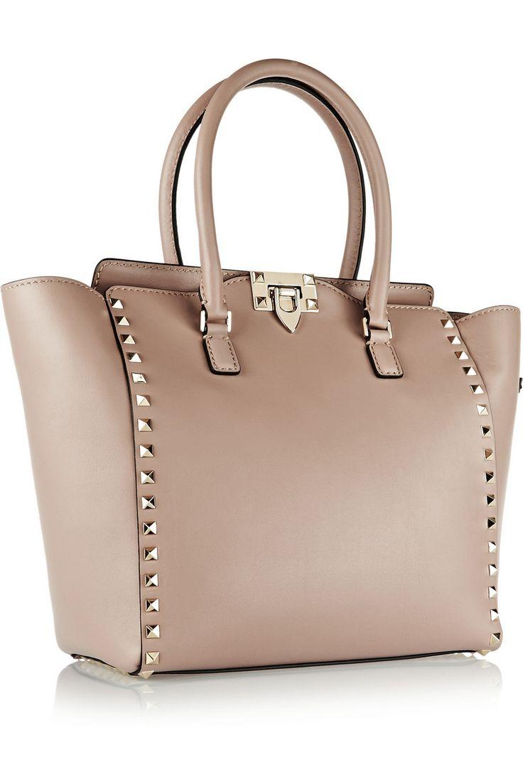 Valentino|The Rockstud medium leather tote|NET-A-PORTER.COM