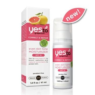 Yes To Grapefruit Even Skin Tone Moisturizer with SPF 15 is clinically proven to help diminish the appearance of dark spots in four weeks! It's formulated with Moringa Oil, a skin conditioning moisturizer chock-full of radiance-boosting fatty acids, Grapefruit, which helps to fade age spots and increase skin luminosity, and Passion Flower Extract to naturally soothe skin.