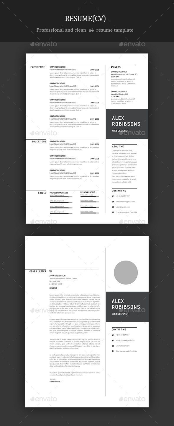 Resume Cv Template Resume Template Download Here Https Graphicriver Net Item Resume 2 Cover Letter For Resume Resume Templates Teacher Resume Template