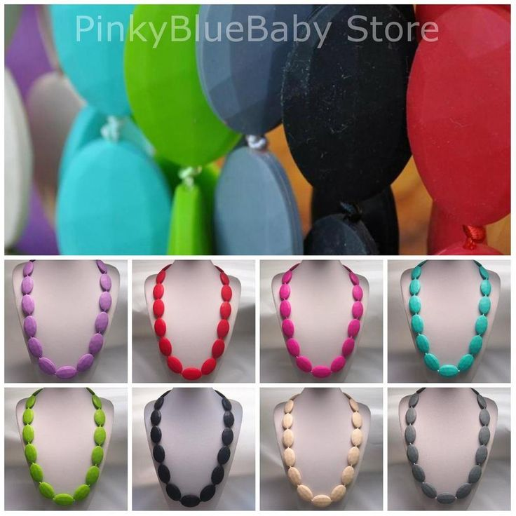 Silicone Bead Necklace, Funky Fashion Jewellery, Flat Beads #PinkyBlue #Necklace