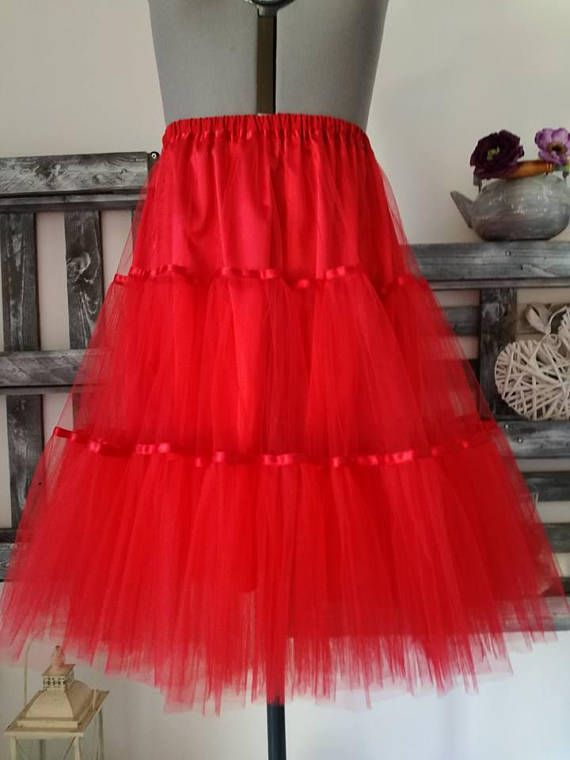 Sottoveste in tulle rosso sottoveste anni 50sottogonna