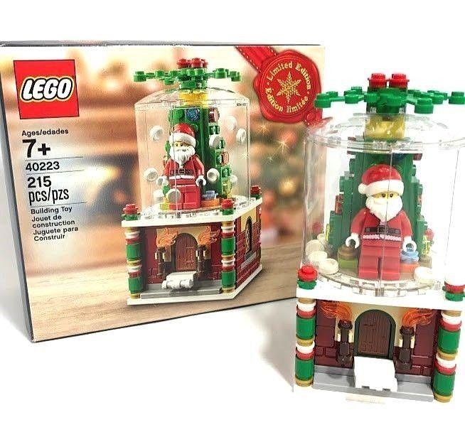 Lego 40223 Holiday Limited Edition Christmas Snow Globe Euc