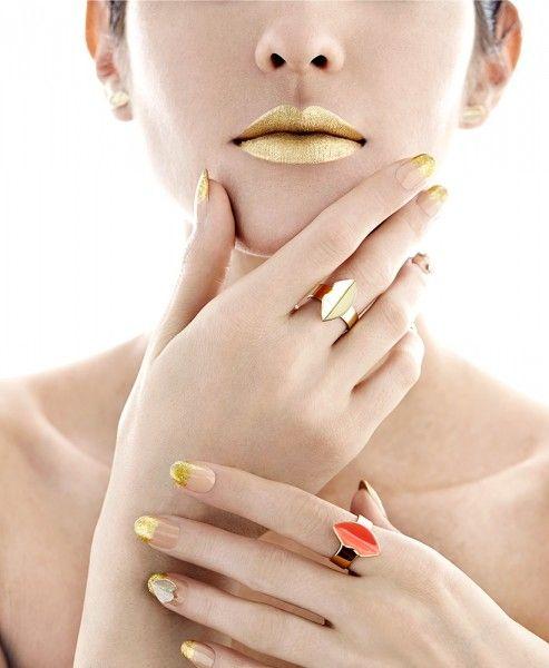 золотые губы по ondrea барб
