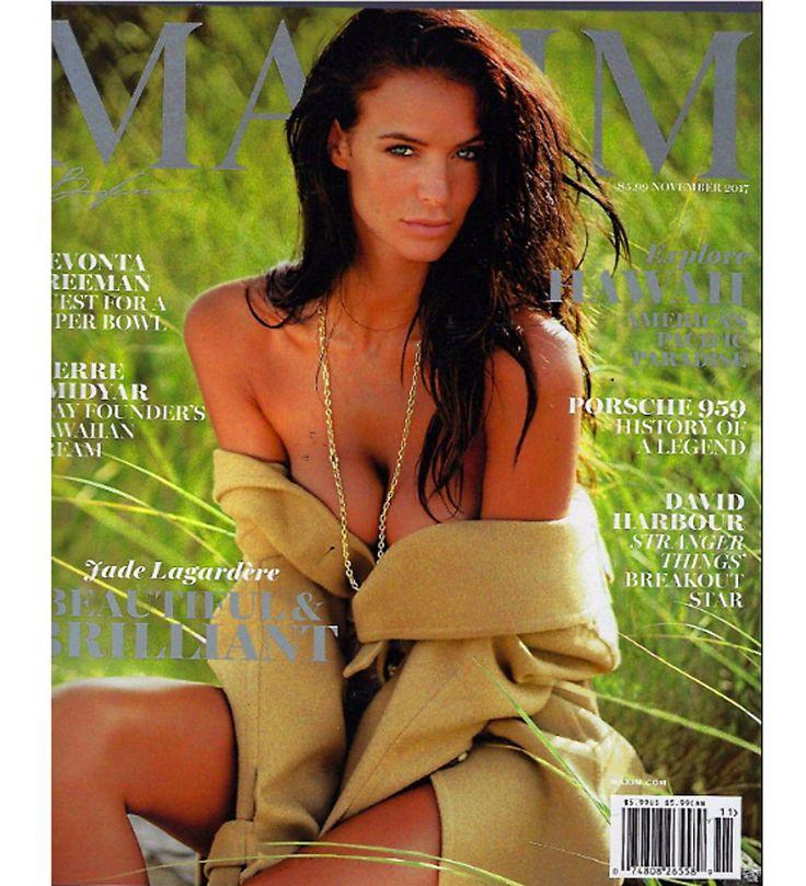 MAXIM Magazine November 2017 JADE LAGARDERE, Devonta Freeman, Pierre Omidyar
