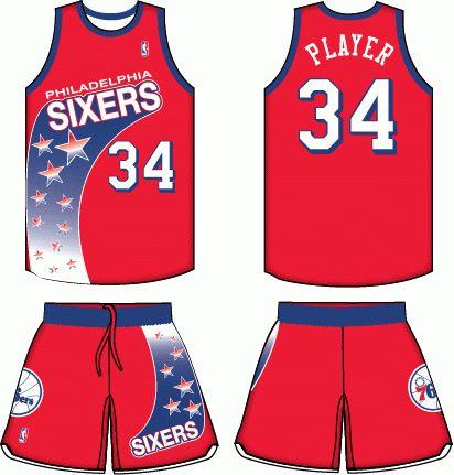 Photos Nike Statement Jersey Reveal ... Philadelphia 76ers Road Uniform  1992-1994 ... c6f3ee300