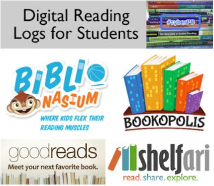 Digital Reading Logs for Students by Katie @ The Logonauts | #CyberPD