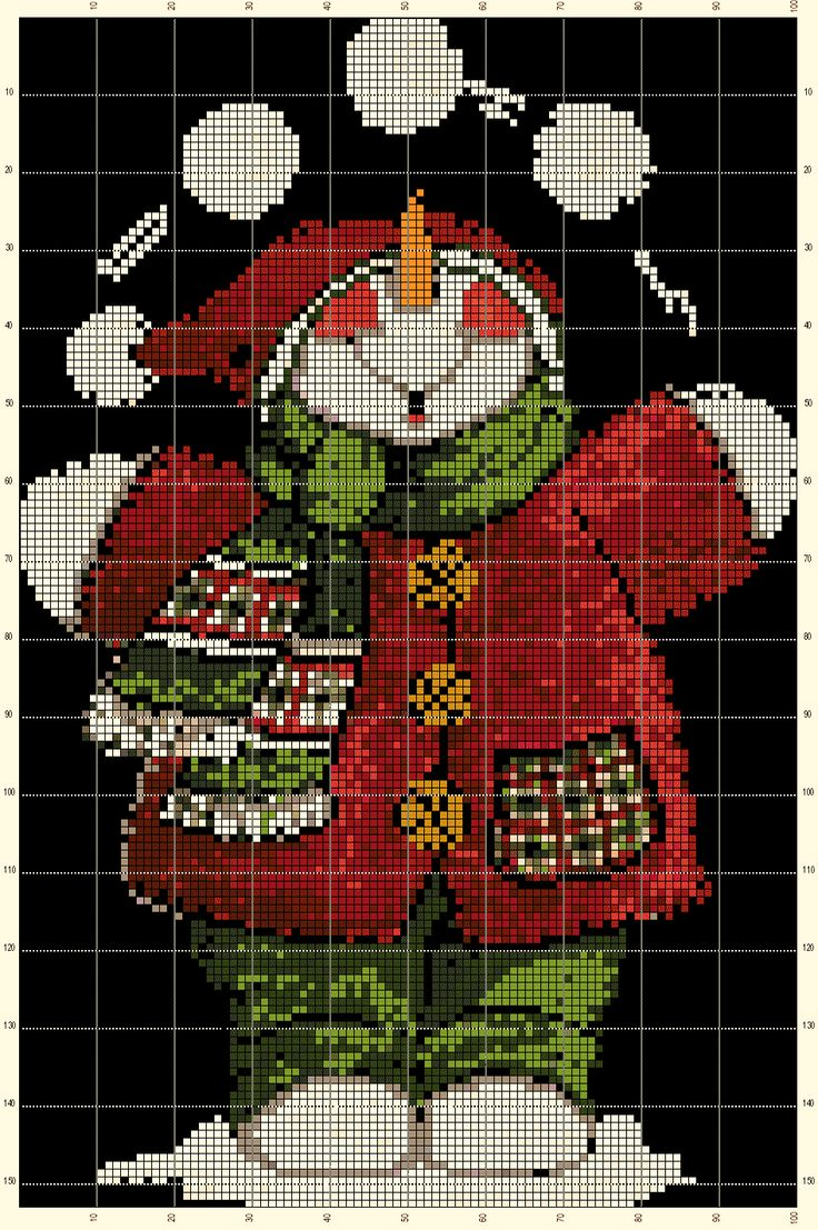 I've adapted a free printable into cross stitch! It's also free!