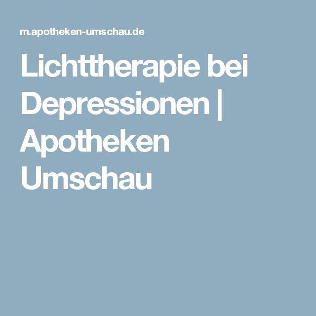 Lovely Lichttherapie bei Depressionen