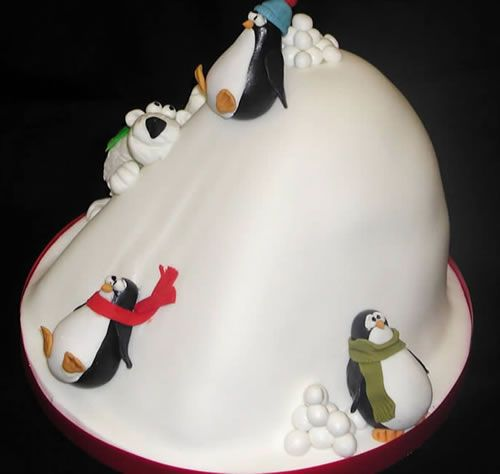 cute penguin cake