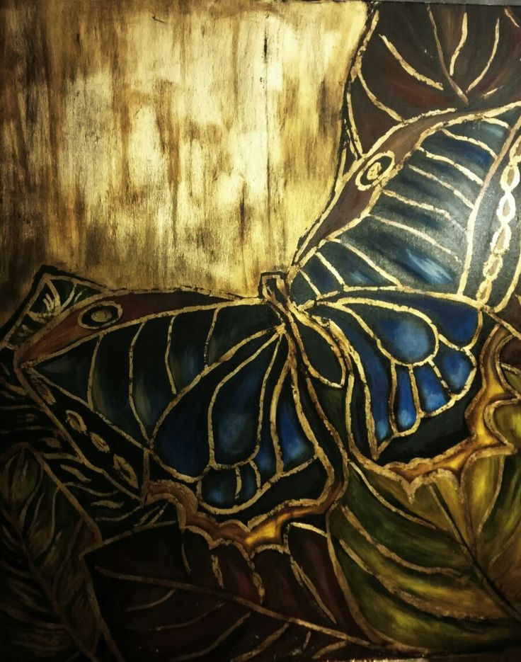 Butterfly gold 3 100x120