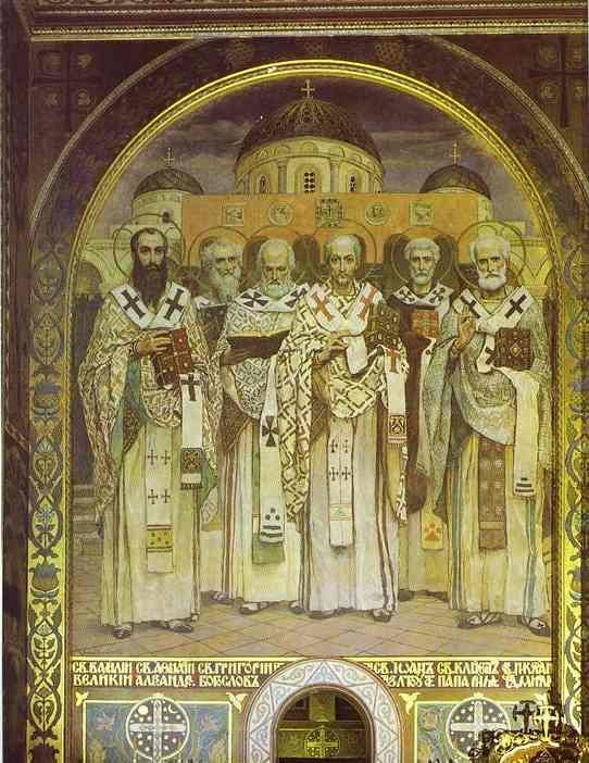 Victor Vasnetsov. Painting. | Русские художники > Russian Artists. St Vladimir's Cathedral in Kiev Ukraine.