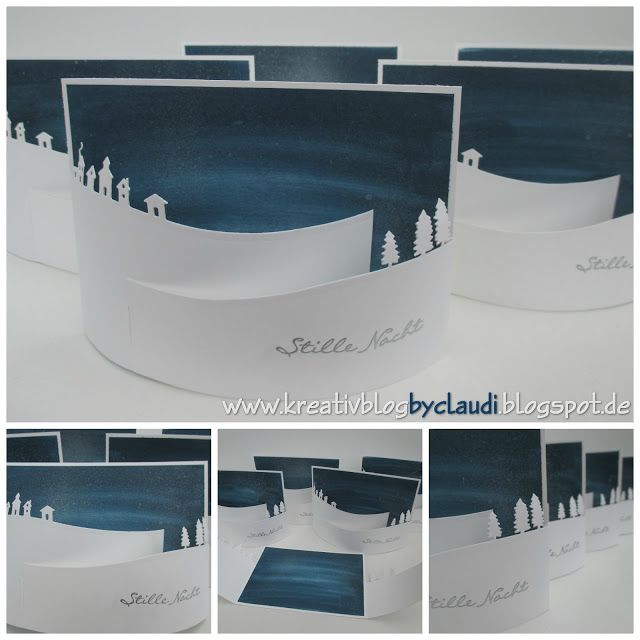 Stille Nacht - Bendi Fold Card mit Anleitung