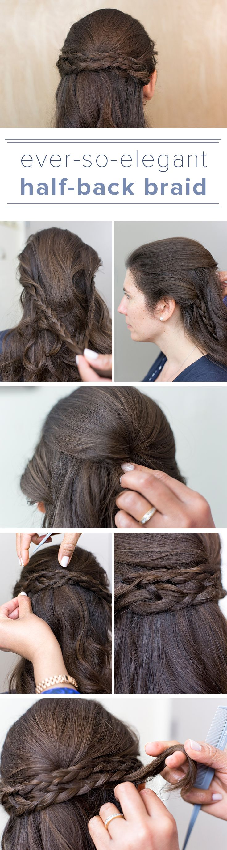 Get this half-up braided style with this easy tutorial. Have straight hair? Add some texture with tousled waves to give your a hair a beachy summertime feel.