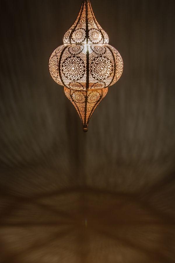 Orientalische Indische Deckenlampe Malha Weiss Orientalische