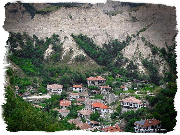 melnik village from hills