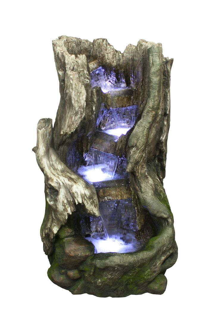 Tato fontána je ideální doplněk zahrad a skalek, ale také interiérů, jako např.: domů, bytů či hal a pracoven, kde poslouží jako okrasa a osvěžovač vzduchu. Voda stékající po římsách uvnitř kmene působí velmi harmonicky. LED diody osvětlují jednotlivá patra, kde voda dopadá.