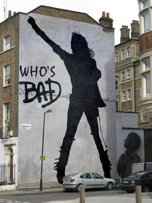 Michael Jackson street art, not sure of the artist or where it is.  If anyone knows, please tell me, it would be greatly appreciated.