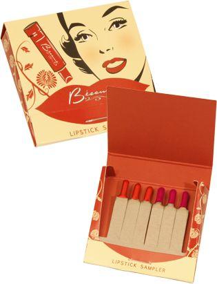 Besame Cosmetics' Lipstick Sample Sets matchbook so cool!