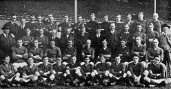 The Arsenal club of 1920-21 at their grounds in Highbury.
