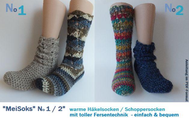 MeiSoks No12 warme Häkelsocken - Ebook made by p-pekee via DaWanda.com